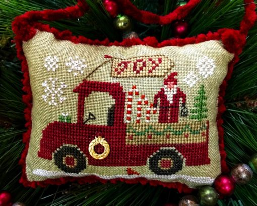 Homespun Elegance CHRISTMAS JOY TRUCK Cross Stitch Pattern