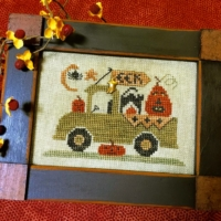 Homespun Elegance TRICK OR TREAT TRUCK Cross Stitch Pattern