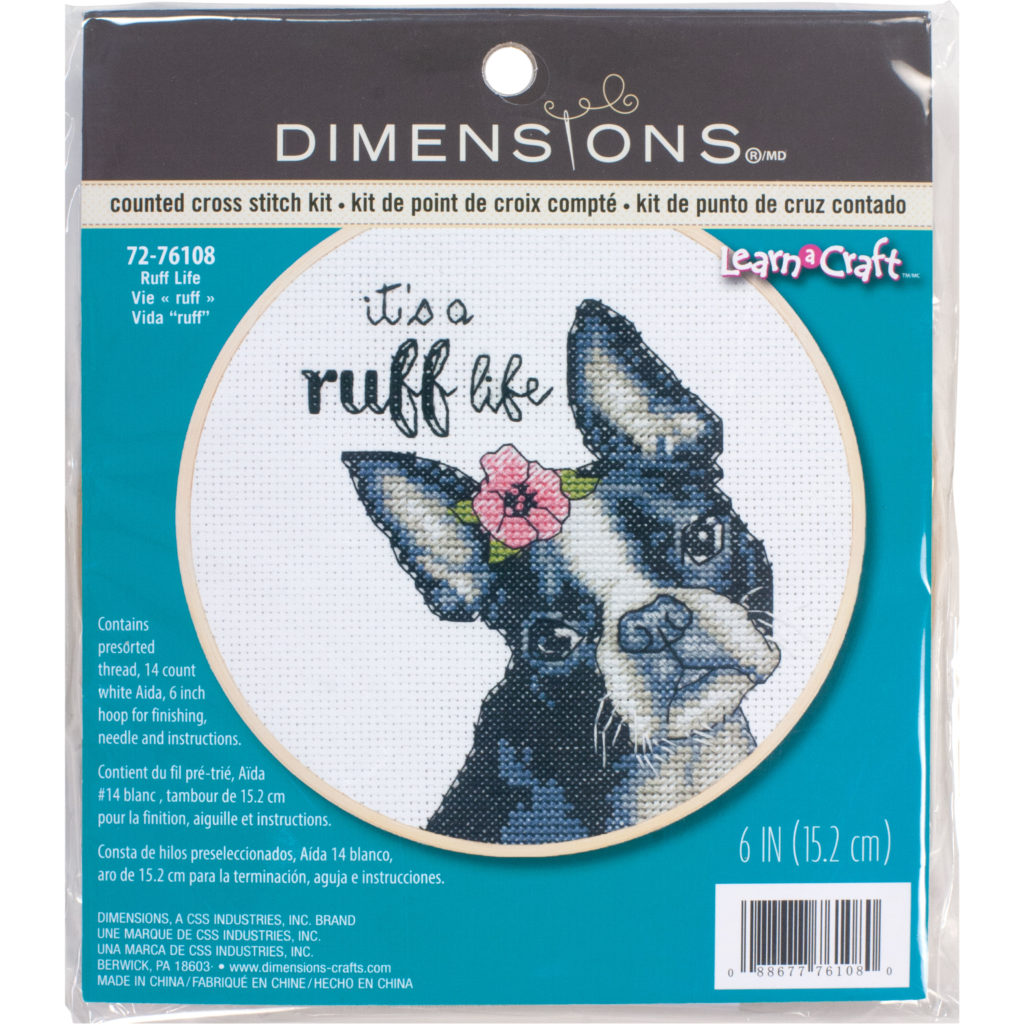 Ruff Life Cross Stitch Kit by Dimensions