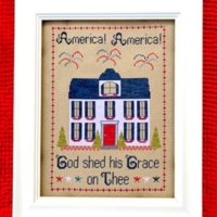 Pickle Barrel AMERICA AMERICA Cross Stitch Pattern – Patriotic Cross Stitch