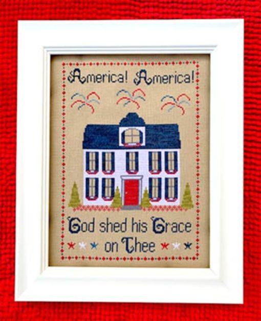 Pickle Barrel AMERICA AMERICA Cross Stitch Pattern - Patriotic Cross Stitch