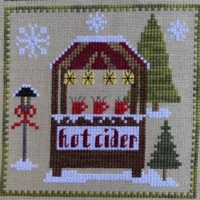 Pickle Barrel CHRISTKINDLMARKT HOT CIDER Cross Stitch Pattern Part 5