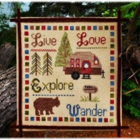 Pickle Barrel WANDER & EXPLORE Cross Stitch Pattern
