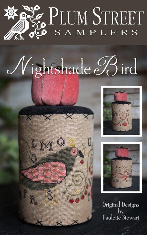 Plum Street Samplers NIGHTSHADE BIRD Cross Stitch Pattern
