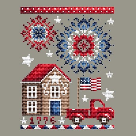 Shannon Christine Designs July 4th Cross Stitch Pattern