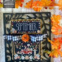 TRUCKIN' ALONG SEPTEMBER Cross Stitch Pattern Stitching With The Housewives – Priscilla Blain