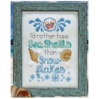 Stoney Creek SEASHELLS & SNOWFLAKES Cross Stitch Pattern