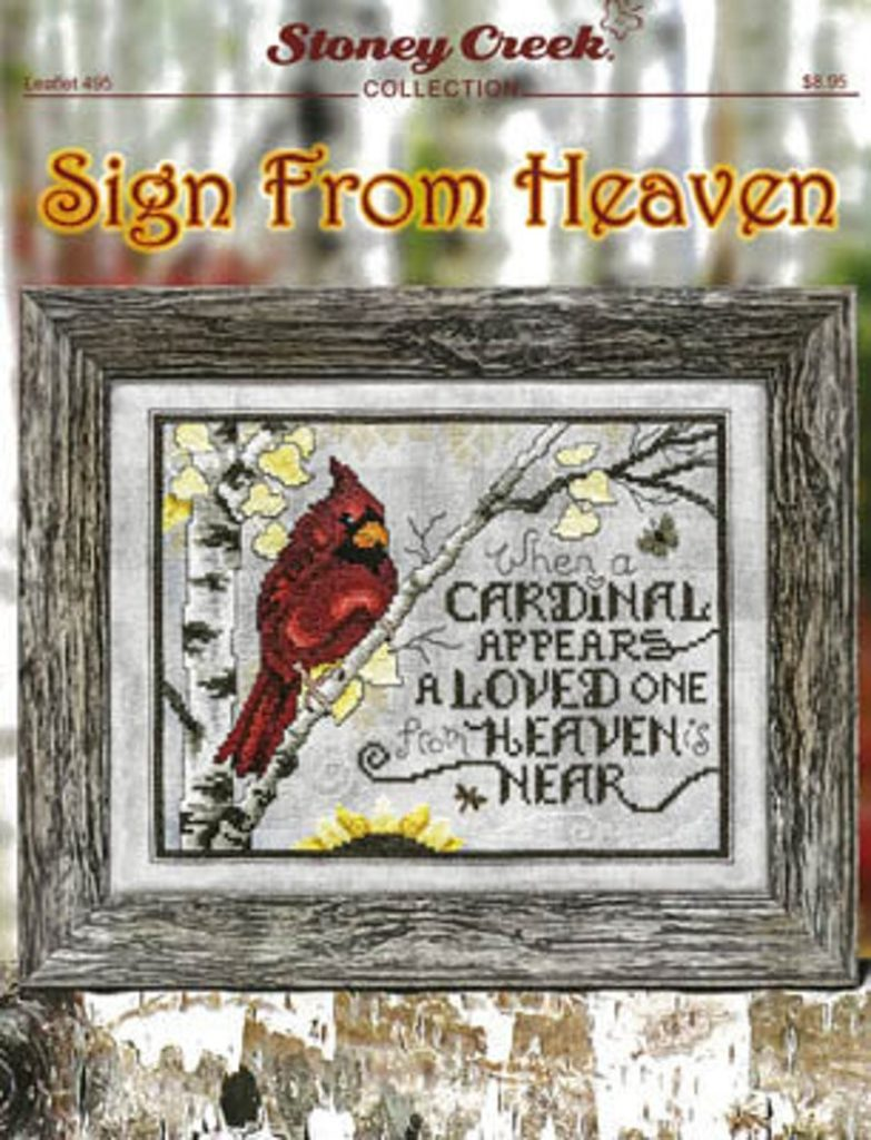Stoney Creek SIGN FROM HEAVEN Cross Stitch Pattern