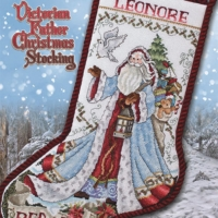 Stoney Creek VICTORIAN FATHER CHRISTMAS Stocking Cross Stitch Pattern