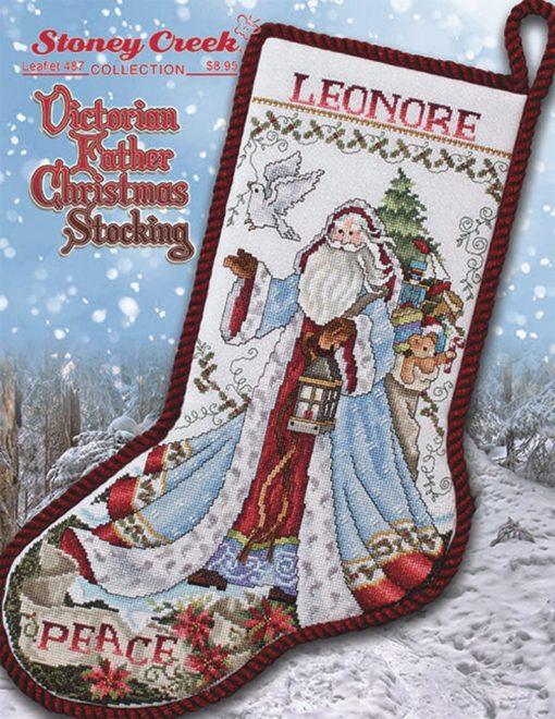 Stoney Creek VICTORIAN FATHER CHRISTMAS Stocking Cross Stitch Pattern