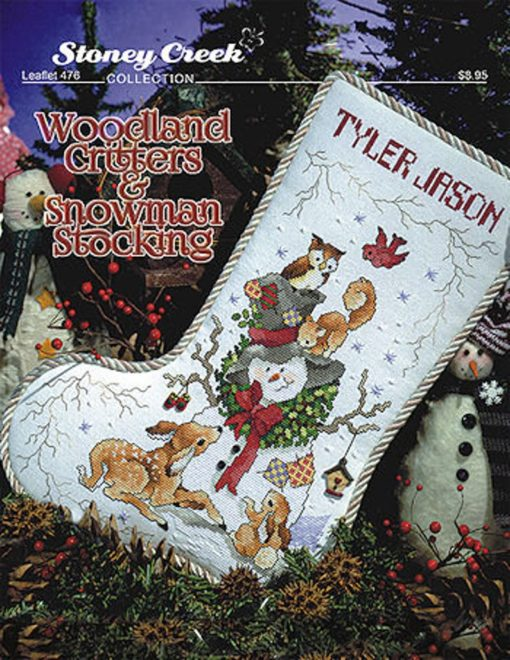 Stoney Creek WOODLAND CRITTERS CHRISTMAS Stocking Cross Stitch Pattern