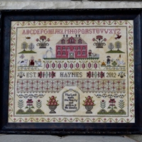 THE HAYNES SAMPLER Cross Stitch Pattern by Annie Beez Folk Art