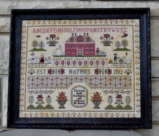 THE HAYNES SAMPLER Cross Stitch Pattern by Annie Beez Folk Art