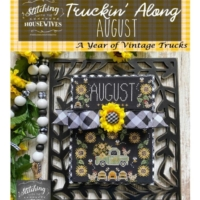 TRUCKIN' ALONG AUGUST Cross Stitch Pattern Stitching With The Housewives – Priscilla Blain