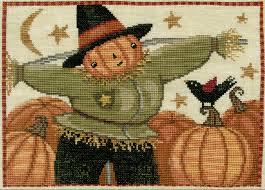 Teresa Kogut Happy Scarecrow Cross Stitch Pattern