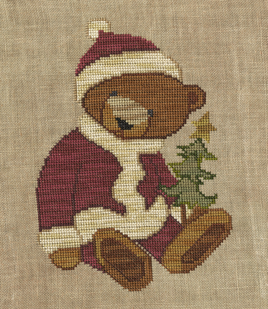 Teresa Kogut SANTA BEAR Cross Stitch Pattern