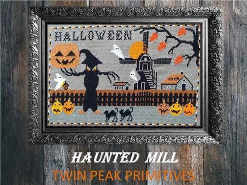 HAUNTED MILL Cross Stitch Pattern by Twin Peak Primitives