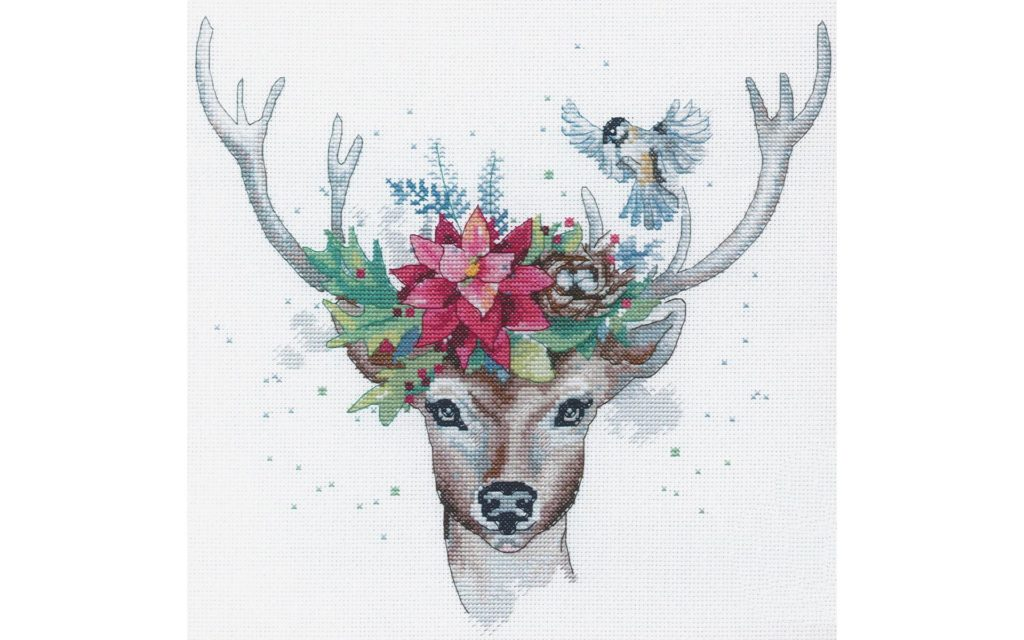 DIMENSIONS WOODLAND DEER Cross Stitch Kit