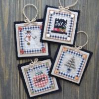 Annie Beez Folk Art COUNTRY CHRISTMAS ORNAMENTS 2 Cross Stitch Pattern