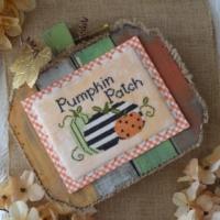 Annie Beez Folk Art PUMPKIN PATCH Cross Stitch Chart – Pumpkin Cross Stitch