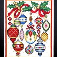 Bobbie G. Designs CHRISTMAS ORNAMENTS Cross Stitch Pattern