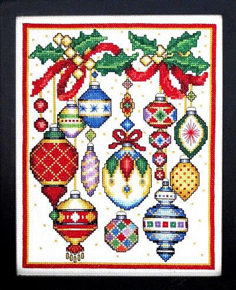 Bobbie G. Designs CHRISTMAS ORNAMENTS Cross Stitch Pattern