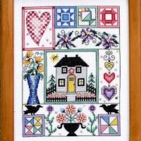 Bobbie G. Designs HAPPY LIFE Cross Stitch Pattern