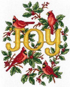 CARDINAL JOY Cross Stitch Kit by Imaginating