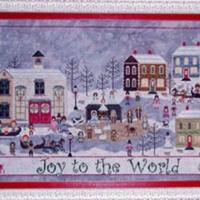 CHURCHYARD CHRISTMAS Cross Stitch Pattern by Praiseworthy Stitches
