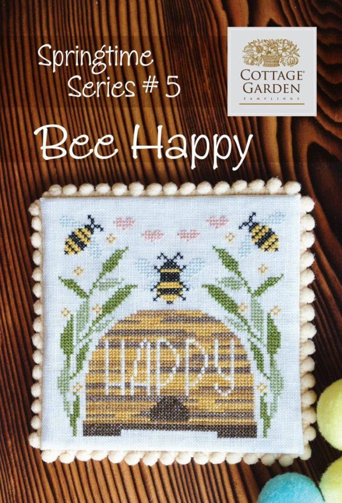 Cottage Garden Samplings BEE HAPPY Cross Stitch Pattern