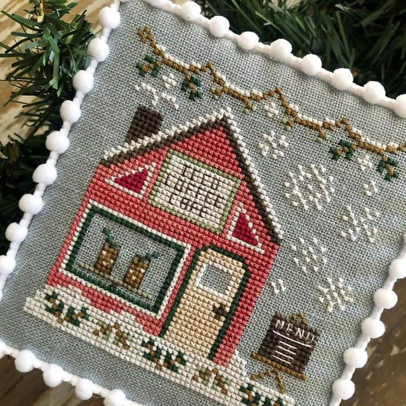 Country Cottage Needleworks ICED COFFEE CAFE #10 Cross Stitch Pattern