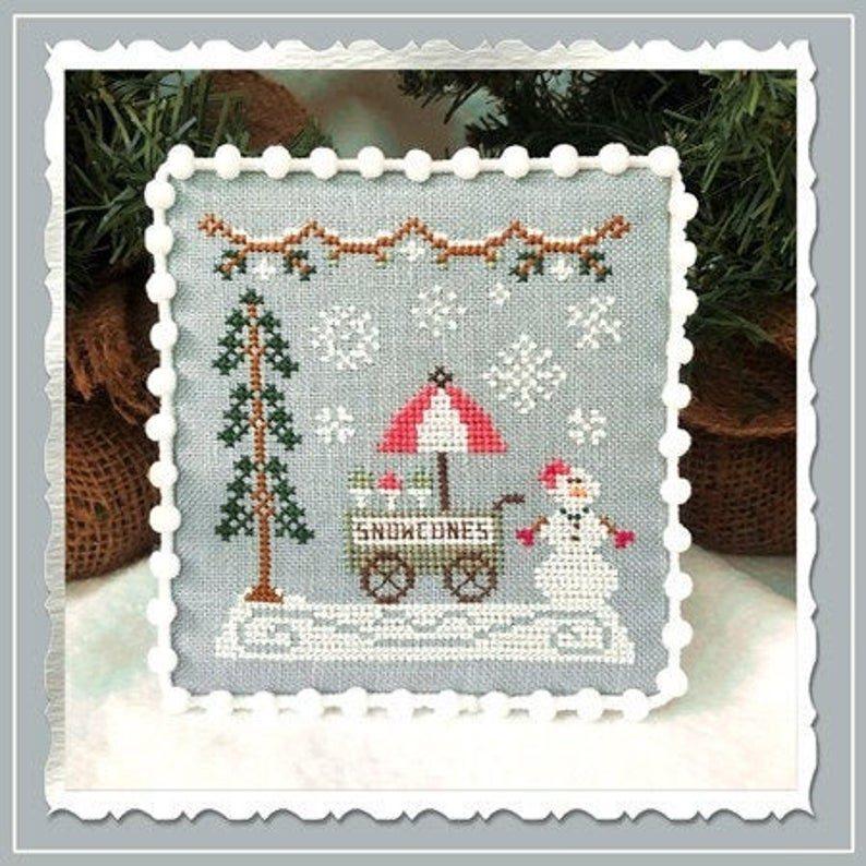 Country Cottage Needleworks SNOW CONE CART #11