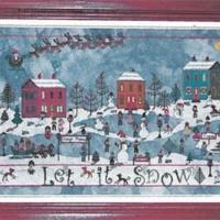 DECEMBER SNOW Cross Stitch Pattern by Praiseworthy Stitches