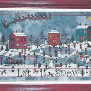 DECEMBER SNOW Cross Stitch Pattern by Praiseworthy Stitches