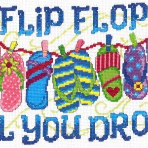 FLIP FLOP Till You DROP Cross Stitch Kit by Imaginating