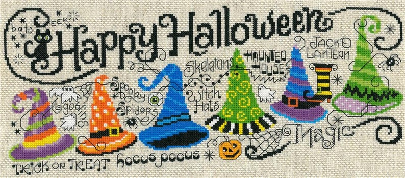 HALLOWEEN HOCUS POCUS Cross Stitch Kit by Imaginating