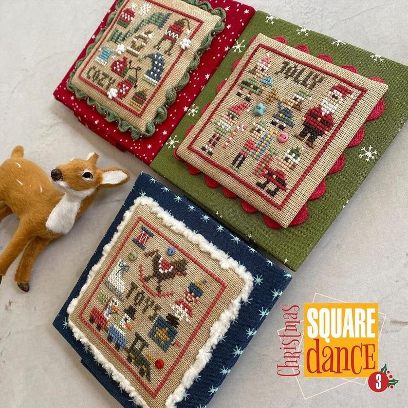 Heart in Hand CHRISTMAS SQUARE DANCE 3 Cross Stitch Pattern