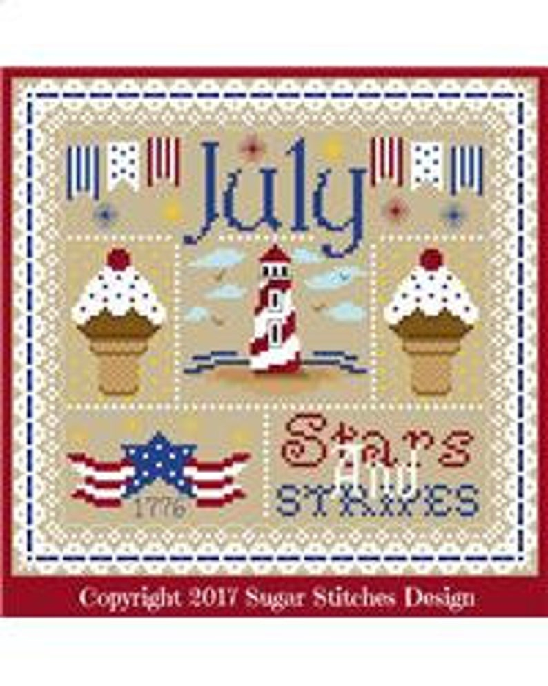 JULY SAMPLER Cross Stitch Pattern by Sugar Stitches Design