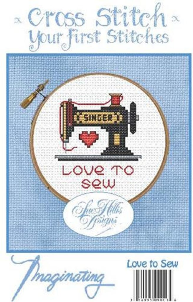 LOVE TO SEW Cross Stitch Kit by Imaginating