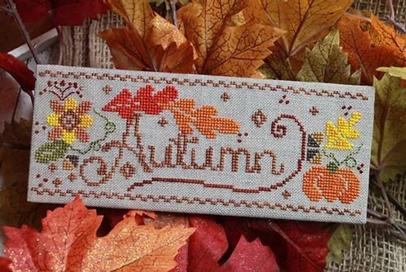 Luhu Stitches AUTUMN FLING Cross Stitch Pattern