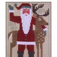 PRAIRIE SCHOOLER SANTA 2016 Cross Stitch Pattern