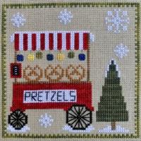 Pickle Barrel CHRISTKINDLMARKT PRETZEL STAND Cross Stitch Pattern #6