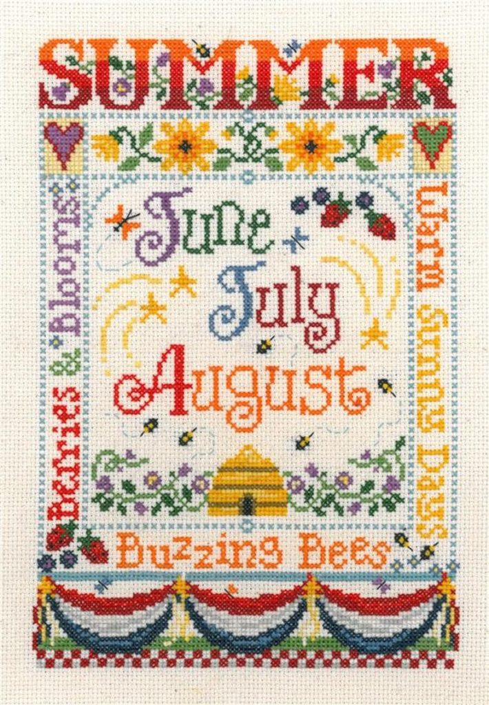 SUMMER SEASON Cross Stitch Kit by Imaginating