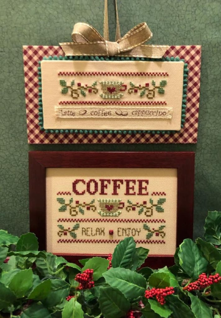 Scissor Tail Designs COFFEE RELAX ENJOY Cross Stitch Pattern