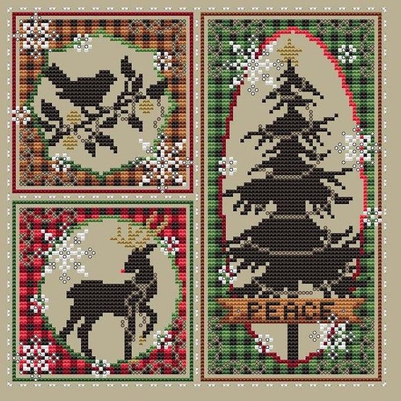 Shannon Christine RUSTIC CHRISTMAS Cross Stitch Pattern