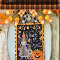 Stitching With The Housewives TRICK Or TREAT Cross Stitch ~ Priscilla Blain PRE-Order