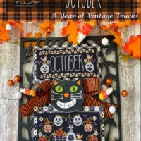 Stitching With The Housewives TRUCKIN' ALONG OCTOBER Cross Stitch