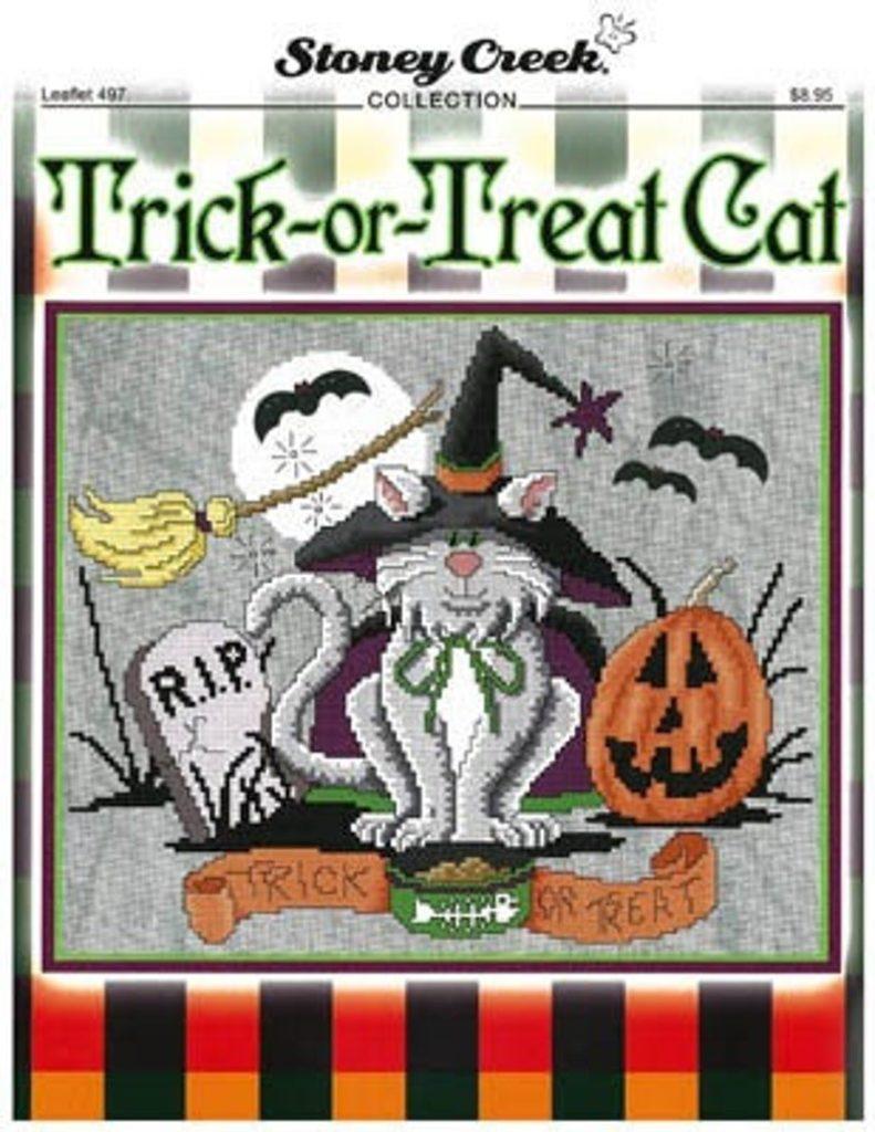 Stoney Creek TRICK Or TREAT CAT Cross Stitch Pattern