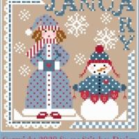 Sugar Stitches Design MISS JANUARY Cross Stitch Pattern