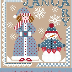 Sugar Stitches Design MISS JANUARY Cross Stitch Pattern